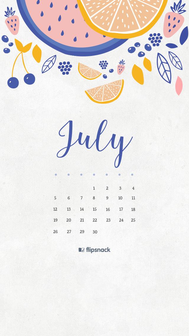Calendar Wallpaper July : July free calendar wallpaper desktop background