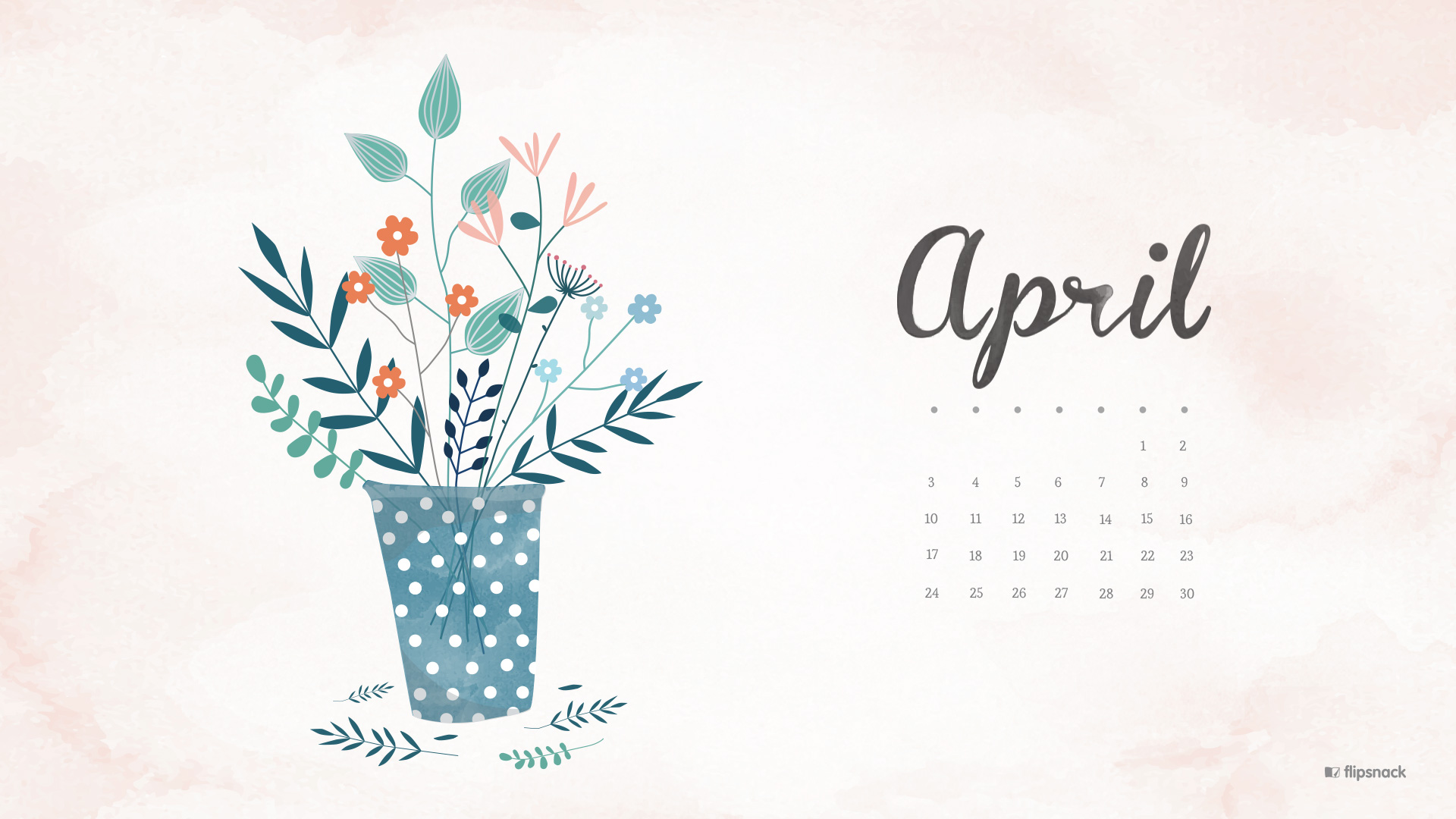 Calendar Design Wallpaper : April free calendar wallpaper desktop background