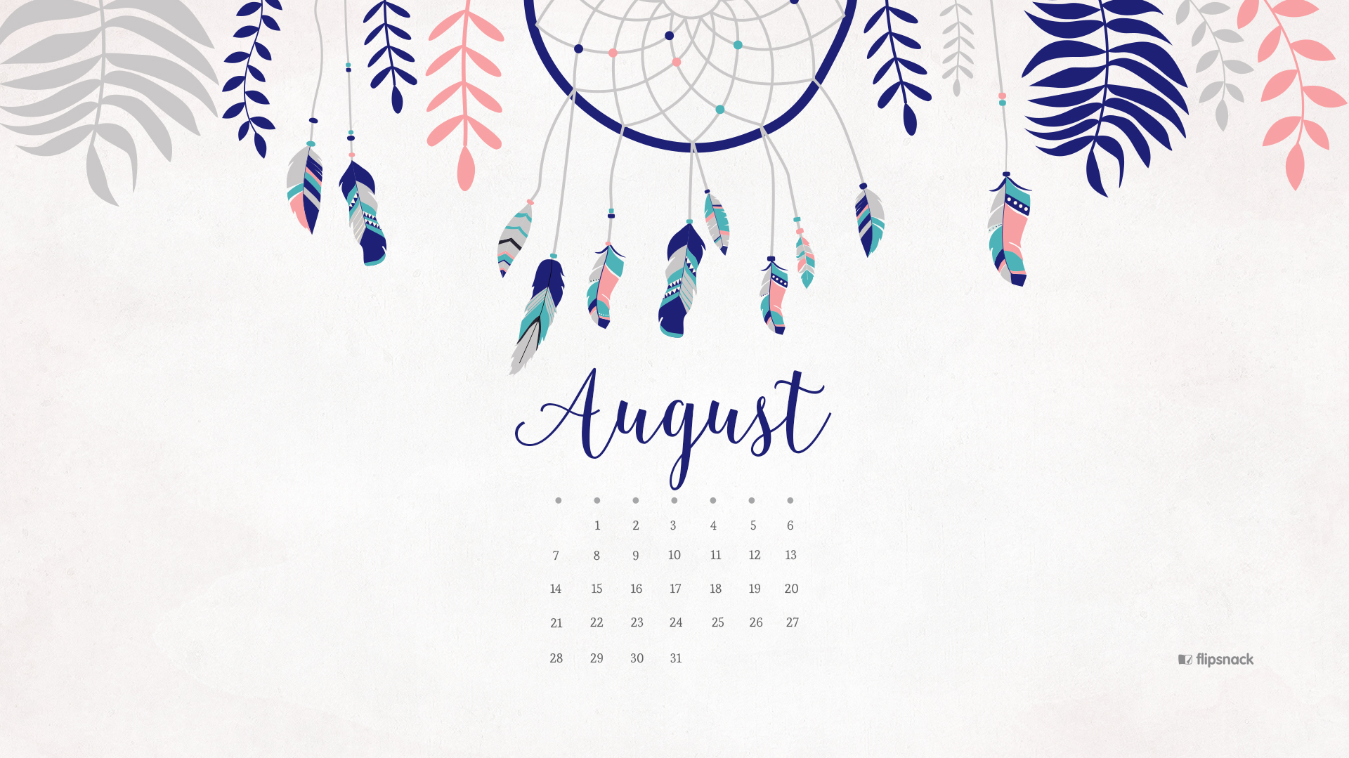Calendar Wallpaper Pc : August free calendar desktop wallpaper