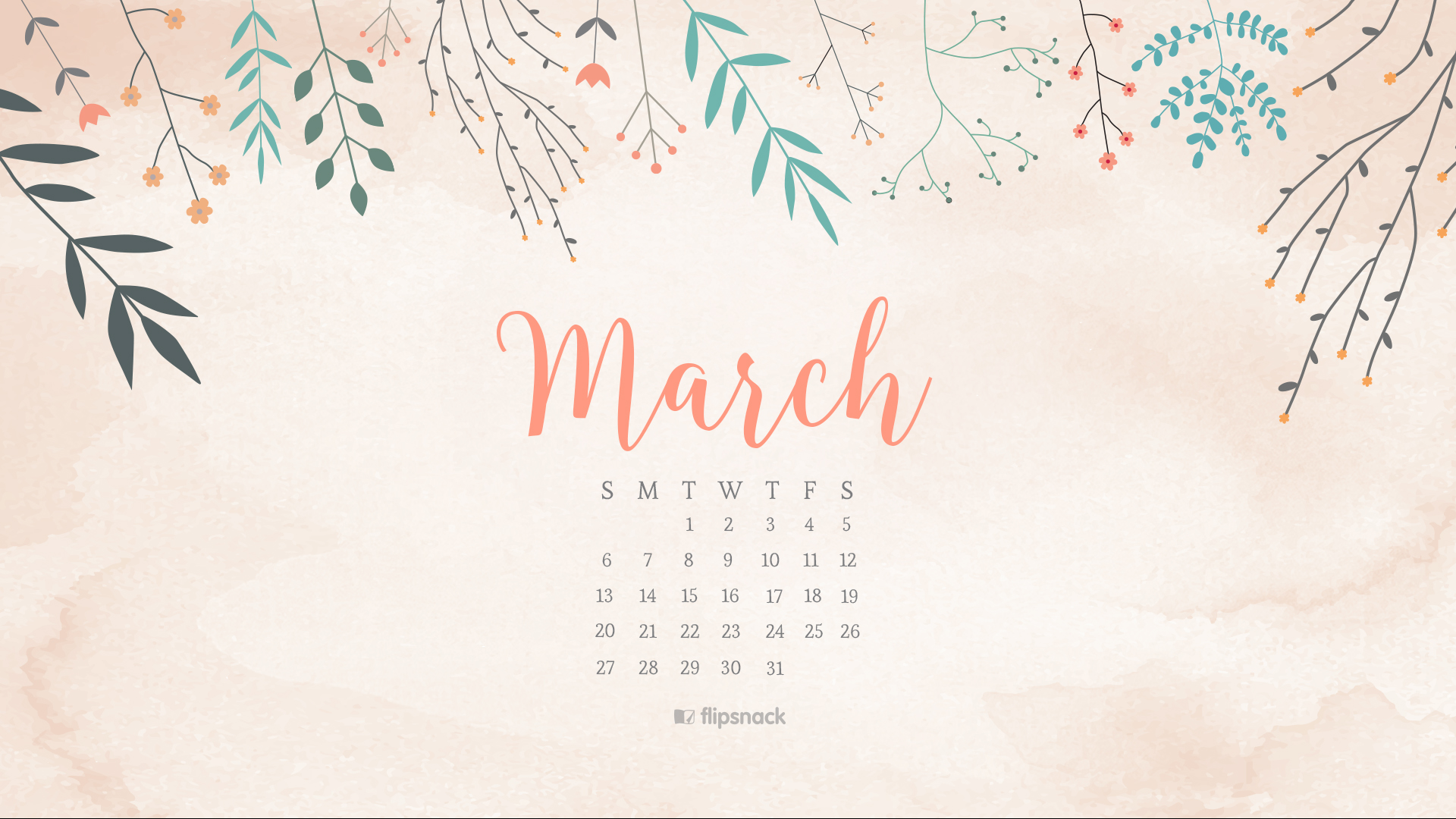 Calendar Computer Wallpaper : March free calendar wallpaper desktop background