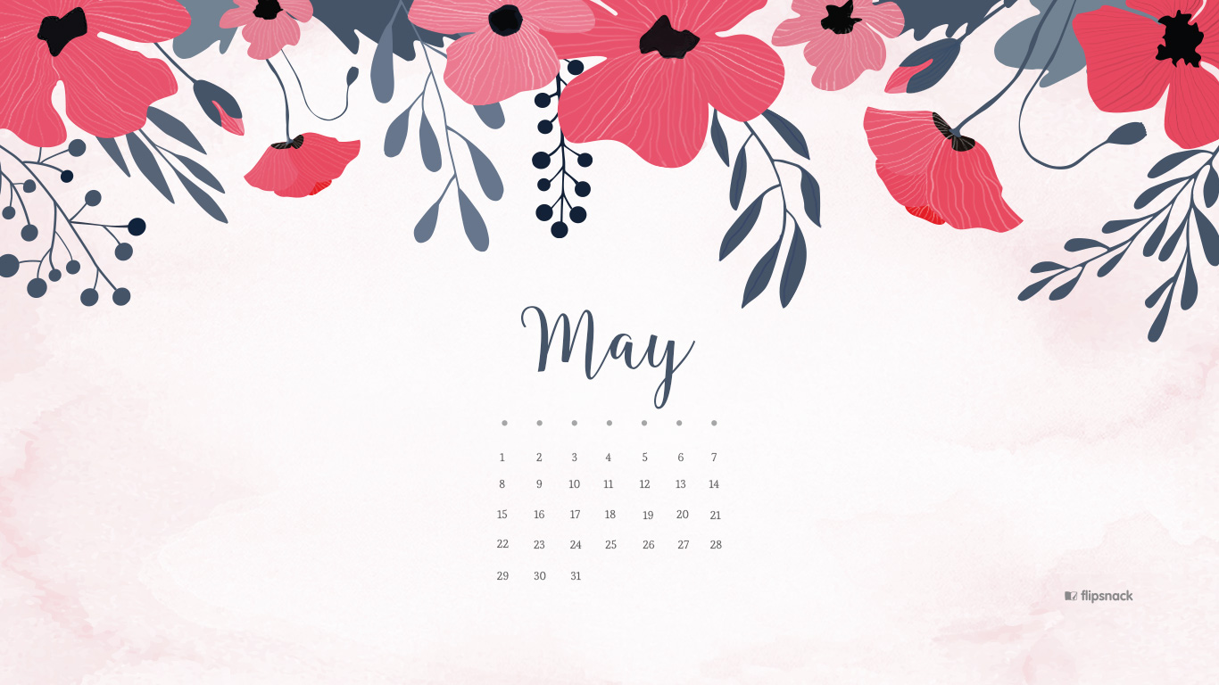 May 2016 free calendar wallpaper – desktop background