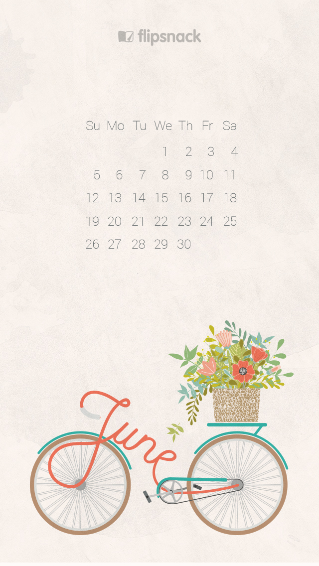 June 2016 free calendar wallpaper – desktop background