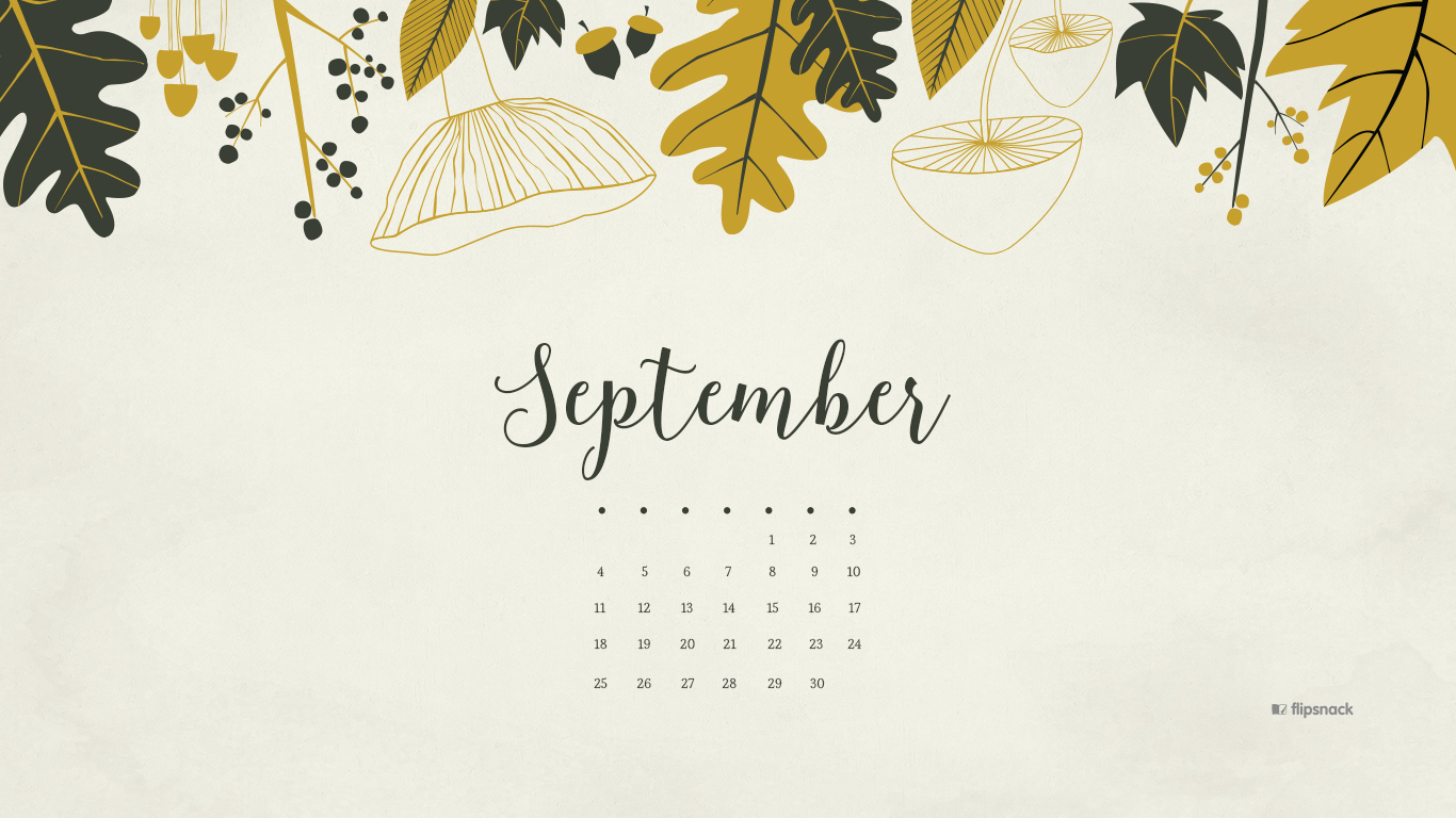 Free Calendar Wallpaper September : September free calendar desktop wallpaper
